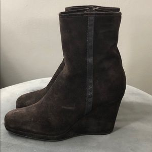 Dark brown Prada boots
